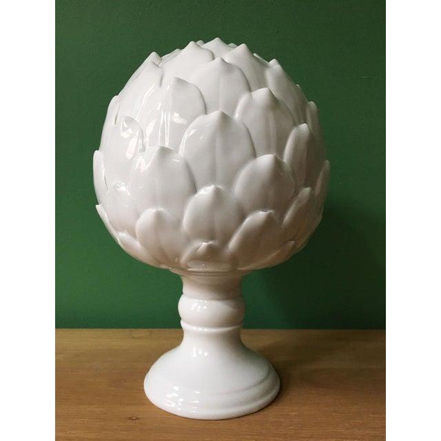La Vie en Blanc porcelain artichoke sculpture - a universal symbol of peace and hope.