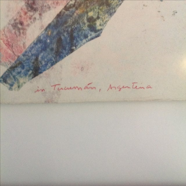 '90 Monotype on Handmade Paper by Jules Heller - Image 4 of 4