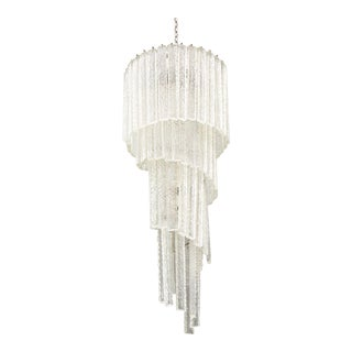 Mazzega Crystal Chandelier For Sale