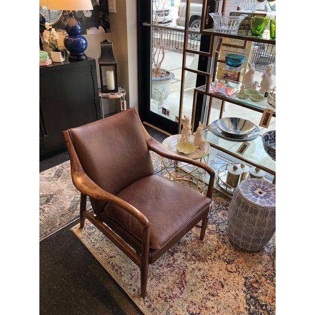 Wood Modern Kiannah Club Chair For Sale - Image 7 of 11