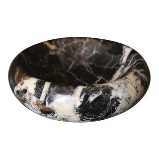 Italian Black Marble Bowl Circa 1975 For Sale