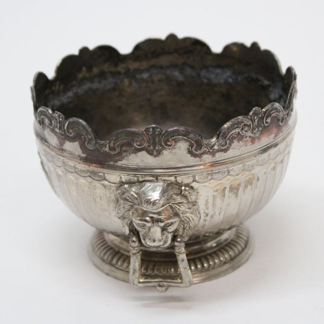 1940's Corbell & Co. Silver-Plate Monteith Bowl For Sale - Image 4 of 5