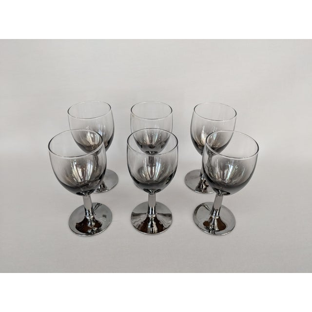 Lusterware Silver Ombre Glasses - Set of 6 For Sale - Image 9 of 13