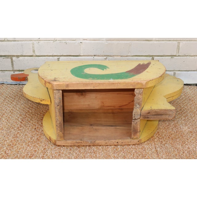 Paint C.1940 Child's Painted Wooden Duck Step Stool For Sale - Image 7 of 10
