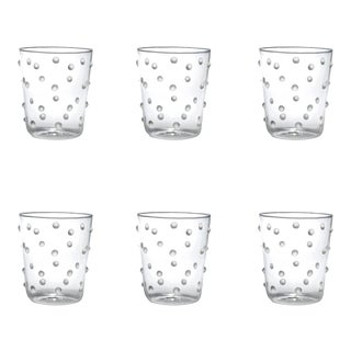 Party Tumbler in White Dots - Set of 6 For Sale