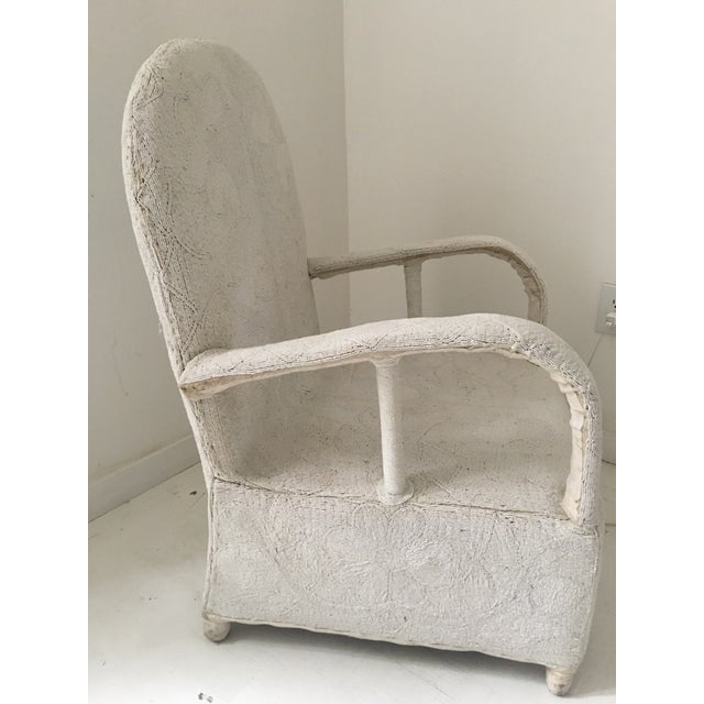 "African 1980s African White Beaded ""Nobility Chair"" For Sale - Image 3 of 6"