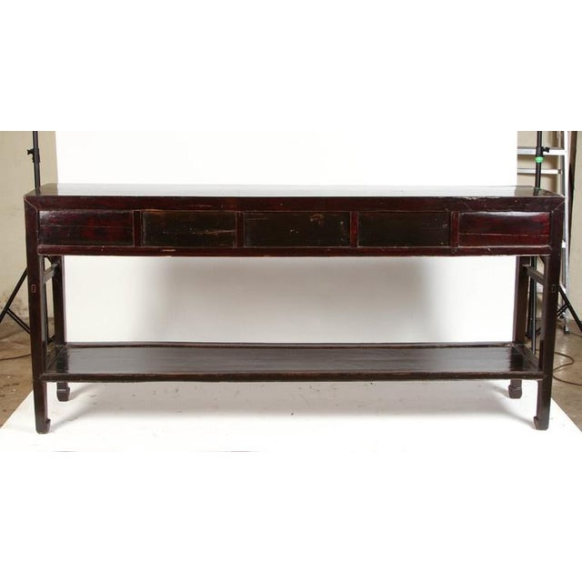 18th Century Five-Drawer Chinese Scholar's Table For Sale - Image 10 of 10