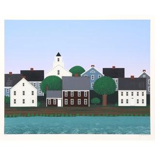 """Ted Jeremenko, """"Homage to Thoreau"""", Folk Art Landscape For Sale"""