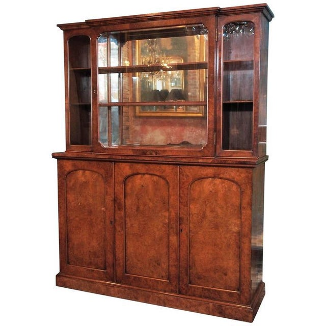 "English Burl Walnut ""Cocktails"" Bar Cabinet-1920's - Image 9 of 9"