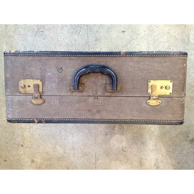 Vintage 1950s Tan Suitcase - Image 5 of 5