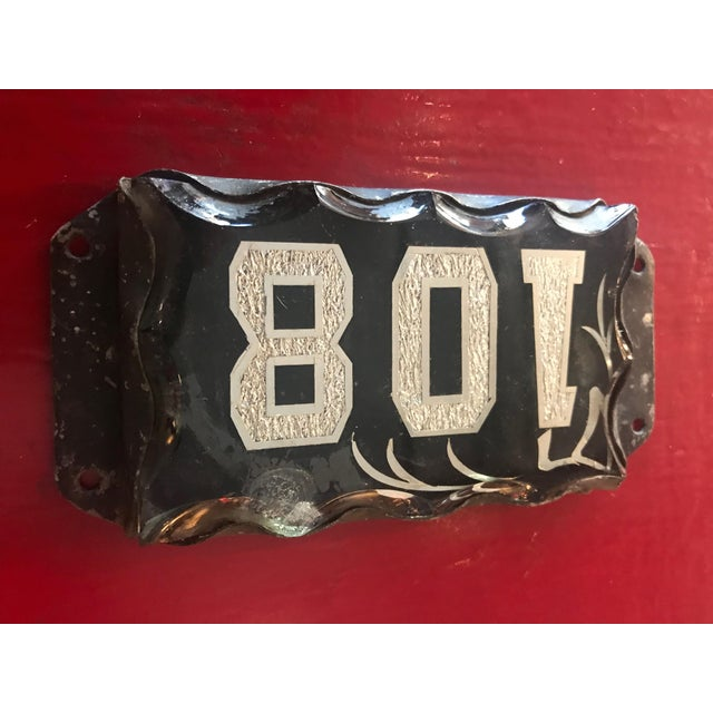Victorian Era Beveled Glass Address Plaque For Sale In Seattle - Image 6 of 10