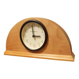 Howard Miller Blond Wood Mantle Desk Quartz Clock For Sale