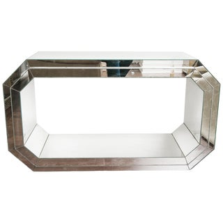Pair of 1970s Mirrored Consoles For Sale