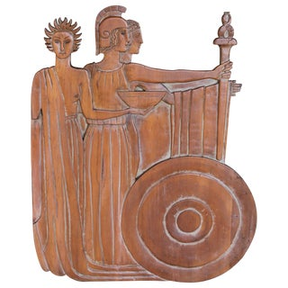 Wood Carving Wall Sculpture Ancient Rome For Sale