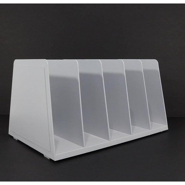 20th Century Modern White Plastic Office Desk File Sorter For Sale In Sacramento - Image 6 of 8
