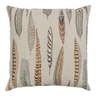 Contemporary Linen Plumes Pillow