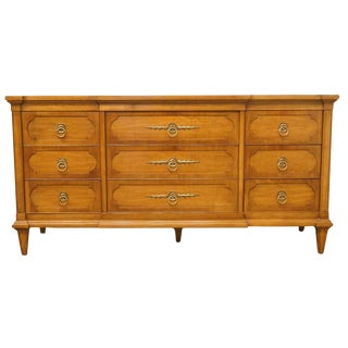 "20th Century Traditional Thomasville Furniture Palladian Hall Collection 66"" Triple Dresser"