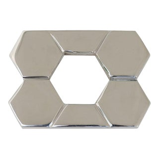 Christopher Pull - Polished Nickel - Small For Sale