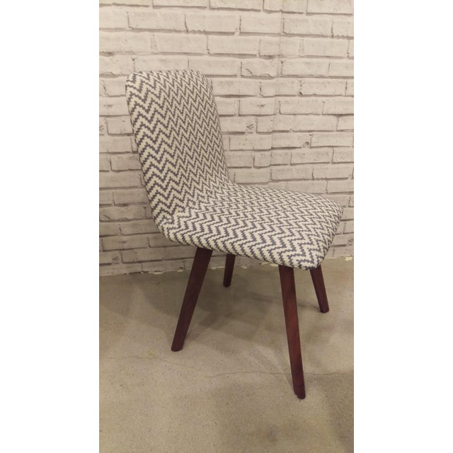 Walnut & Slate Chevron Dining Chair - Image 2 of 2
