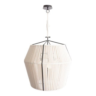 Contemporary Rope-Wrapped Gem Medium Pendant Lighting by Cuff Studio For Sale