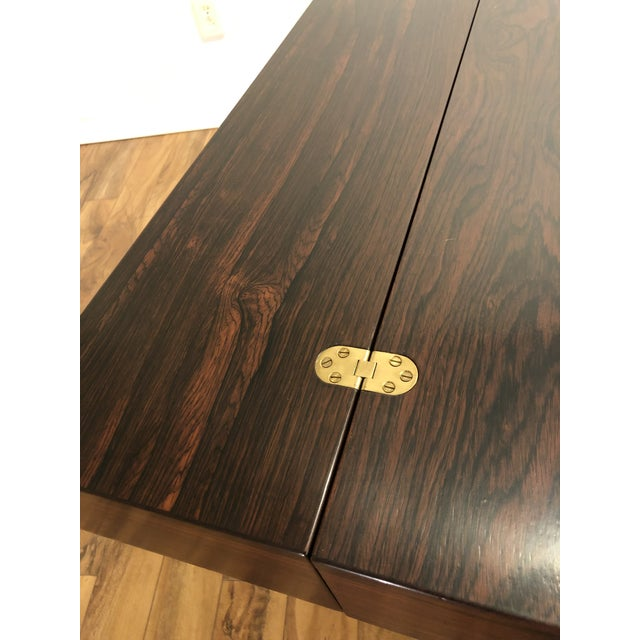 Rosewood Peter Lovig Nielsen Flip Top Rosewood Desk For Sale - Image 7 of 13