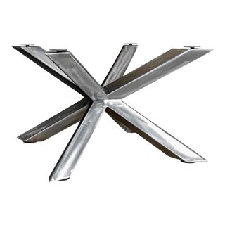 Invictus Steelworks Modern Cross Table Base For Sale