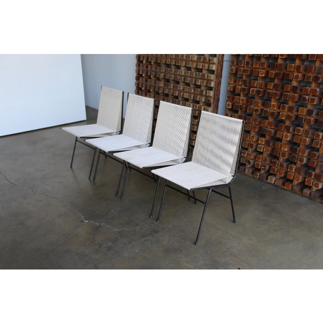 Mid-Century Modern Allan Gould String Steel Chairs - Set of 4 For Sale - Image 11 of 13