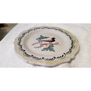 Early 19th C. French Quimper Blue Gray Pottery Plate Preview