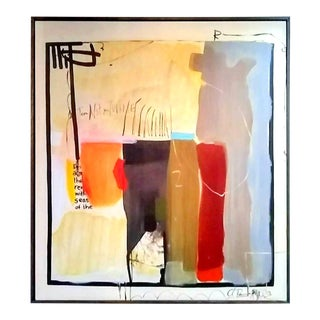 """t.l. Lange """"Untitled"""" Abstract Acrylic Painting For Sale"""