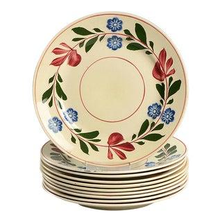 1950s Adams China Alcazar Salad Plate - Set of 10 For Sale