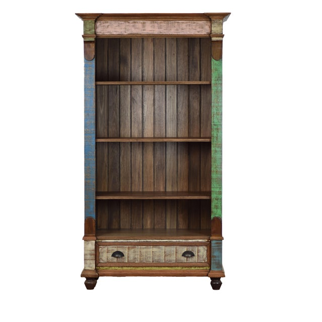 Reclaimed Wood Bookcase For Sale In Los Angeles - Image 6 of 6