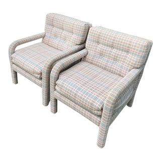 1970s Vintage Parson Armchairs- A Pair For Sale