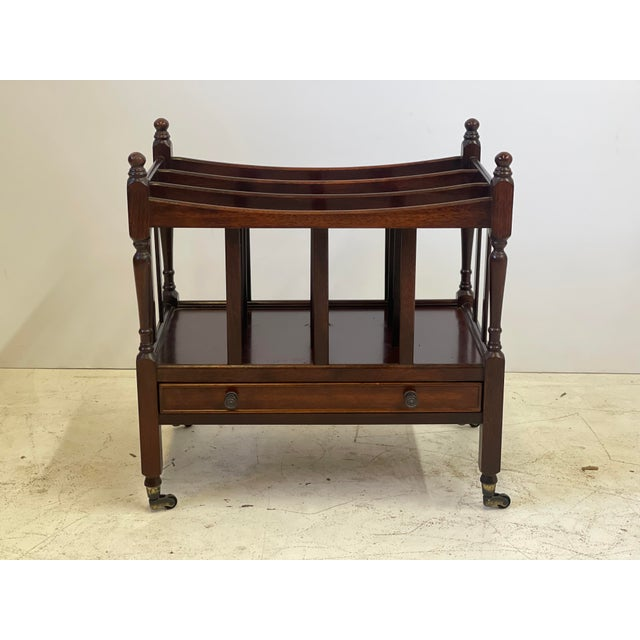 Early 20th Century English Regency Canterbury For Sale - Image 13 of 13