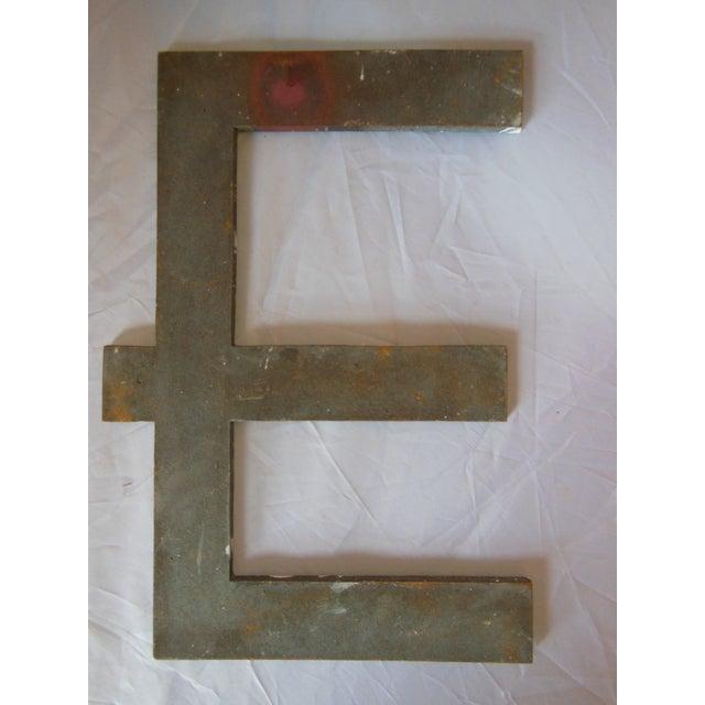 """Vintage Bronze Letter """"E"""" - Image 2 of 3"""