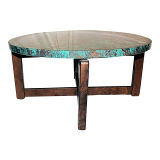 1980s Robert Cohen Faux Finished End Table For Sale