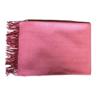 Pink Alpaca Wool Classic Throw