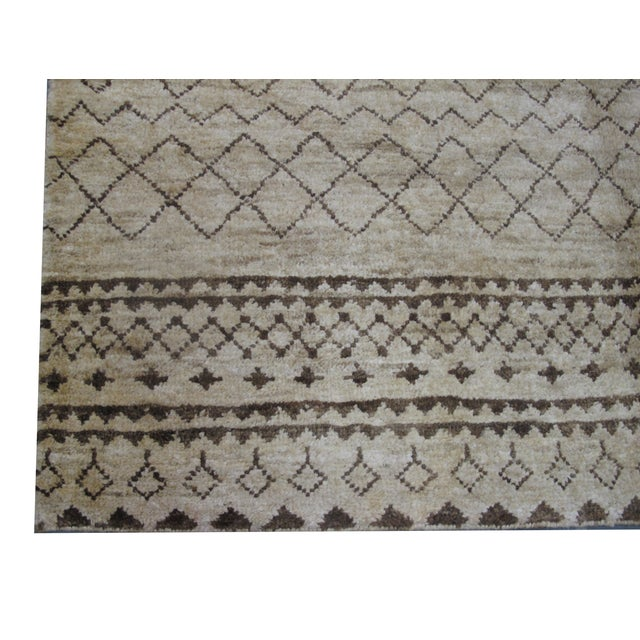 Natural Hemp Indian Rug - 8′2″ × 10′ For Sale - Image 4 of 5