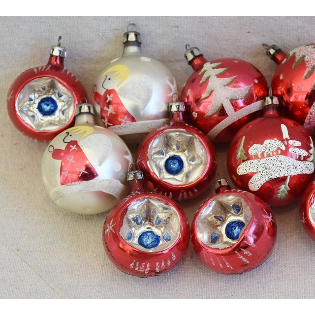 Mid 20th Century Vintage Colorful Christmas Ornaments W/Box - Set of 12 For Sale - Image 5 of 10