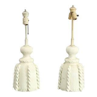 Last Call Blanc De Chine Tassel Table Lamp