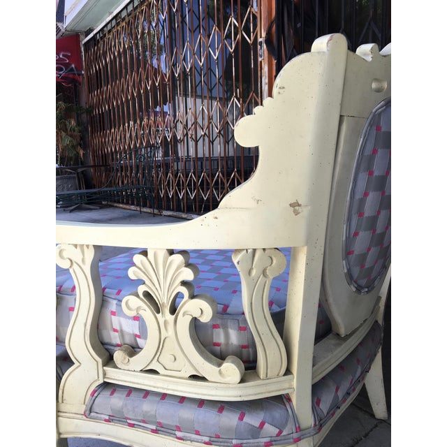 Vintage Shabby Chic Style Sofa For Sale - Image 10 of 13