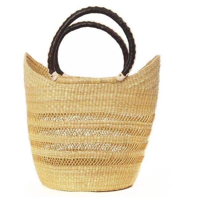 African Bolga Ghana Woven Yikene Basket For Sale - Image 4 of 4