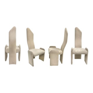 1970s High Back Dining Chairs by Trendway - Set of 4 For Sale