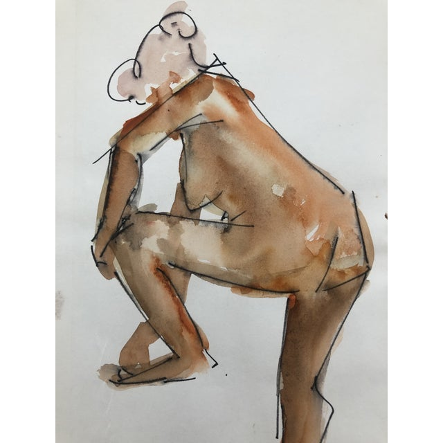 Figurative Standing Female Nude by Stanley Brodey, 1950s For Sale - Image 3 of 4