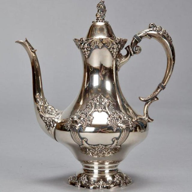 Reed & Barton Silver Plate Coffee Service - 6 Pieces For Sale - Image 5 of 11