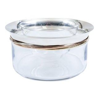 Cartier Crystal Art Deco Style Sterling Silver Caviar Service For Sale