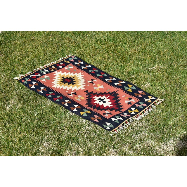 Vintage Hand Knotted Traditional Southwestern Style Anatolian Kilim Rug For Sale - Image 10 of 13
