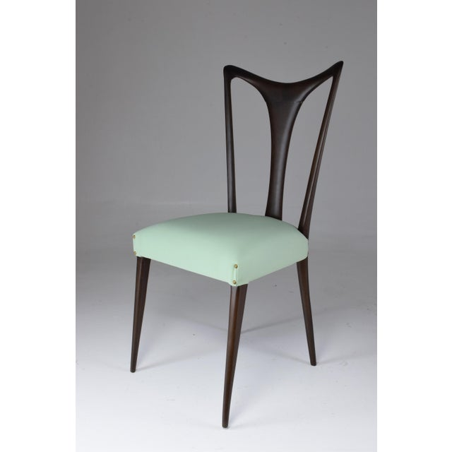 Italian Vintage Dining Chairs Attributed to Guglielmo Ulrich, Set of Six, 1940s For Sale - Image 11 of 13