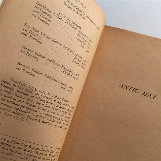 Antic Hay by Aldous Huxley, 1953 For Sale - Image 5 of 5