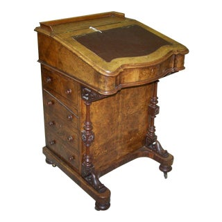 Victorian Walnut Davenport Desk Perfect for Restaurant Hostess Stand for a Cool Hipster Joint