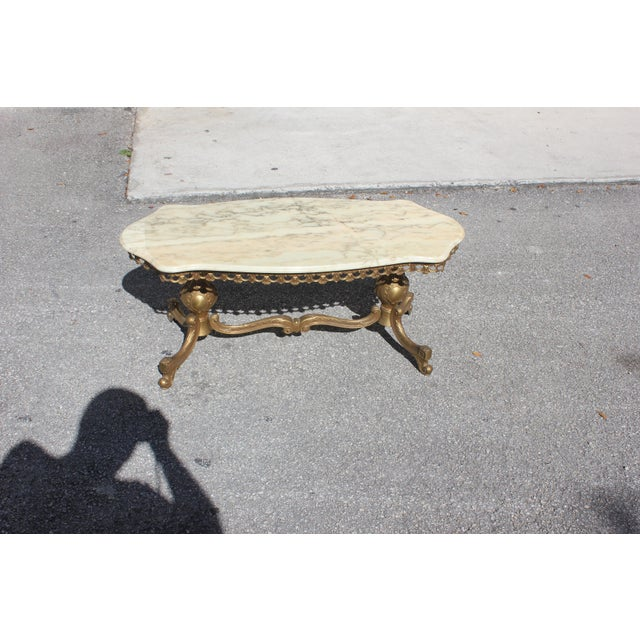 1940s French Maison Jansen Bronze Onyx Top Coffee Table For Sale - Image 12 of 13